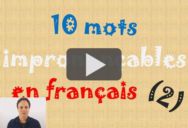 mots français
