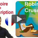 Histoire en français avec transcription : Robinson Crusoé
