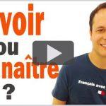 Grammaire Française : Savoir ou Connaitre ?