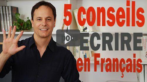 écrire en français